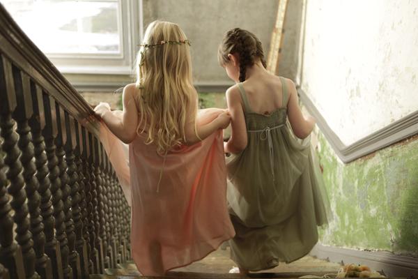 Sugar Almond Dress (Peach and Green)_3542