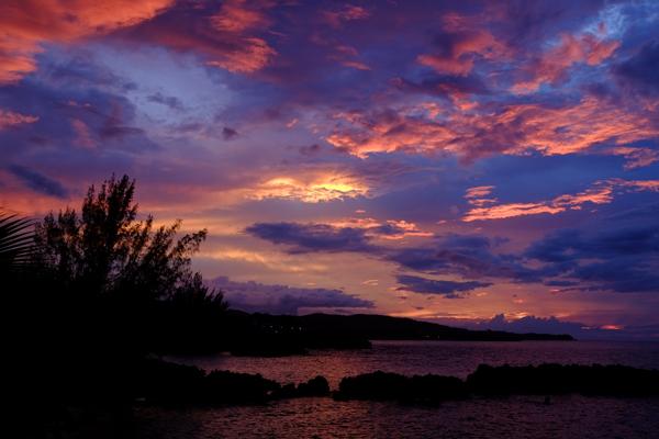 sunset at Trident